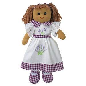 Personalised Powell Craft Lavender Dress Rag Doll - Fabric Doll, Child's Gift