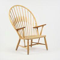 1960s Hans Wegner Peacock Chair for Johannes Hansen of Denmark Ash & Teak Knoll