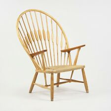 1960s Hans Wegner Peacock Chair for Johannes Hansen of Denmark Ash & Teak Knoll