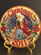 Jim Shore Xmas Plaque Every Knee Shall Bow 4023459 Baby Jesus Santa 2011 Enesco