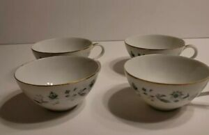 Style House Japan Juliet Coffee Tea Cups White Green Gold 4 Piece Set