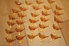 29 lot Orange Turtle Dove Birds Medium Bulbs Vtg Ceramic Christmas Tree Lights