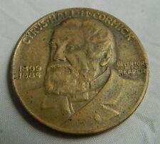 Rare 1931 Cyrus Hall McCormick International Harvester Reaper Medallion Medal