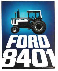 Original Feb 1980 Ford 8401 Tractor Australian Sales Brochure - Ford Australia