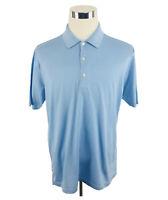 Peter Millar Baby Blue Short Sleeve Golf Polo Shirt Men's Large L
