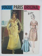 Vintage 60s VOGUE ORIGINAL 1319 PATOU Evening Wedding Bride Dress Sewing Pattern