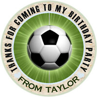 30 x Personalised Football  Birthday Stickers Party Bag Thank You  stickers