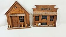 HANDMADE WESTERN STORE WALL DECOR TWO PIECES A15-14