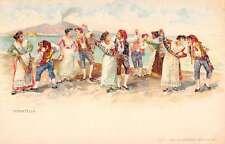 Italy Traditional Clothing Dance Tarantella Natives Antique Postcard K36020