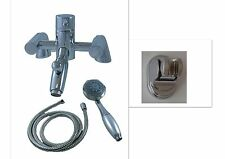 ALL METAL SINGLE LEVER DECK MOUNTED BATH SHOWER MIXER TAPS, HAND SHOWER SET 052
