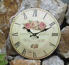 OROLOGIO PARETE METALLO ROSE motivo imbottitu Cottage SHABBY rosenbukett