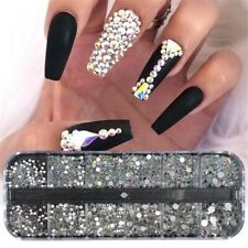 12 Box Crystal Rhinestone 3D Glitter Glass Diamond Gems Nail Art Decoration USA