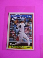 1988 Topps TIFFANY, UK American Baseball Mini,  MINT Dave Winfield #85 Rare!