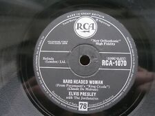 ELVIS PRESLEY 78 RPM HARD HEADED WOMAN / DON'T ASK ME WHY RCA 1070 FREE UK P&P
