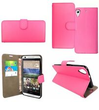 HTC 626 Flip Phone Case Pink Cover Strong Leather Uk Seller