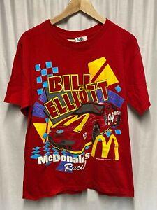 Vintage 1995 McDonalds BILL ELLIOT Racing T-Shirt - LARGE