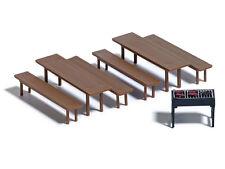 Busch 7782 Mini Set : Bierzeltgarnitur mit Grill und Grillgut H0 Neu