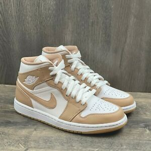 Nike Air Jordan 1 Mid Sneakers Men's Size 14 Tan Gum 554724-271