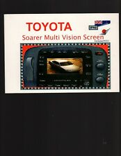Toyota Soarer Multi Vision Screen Operation Manual, Small book not CD