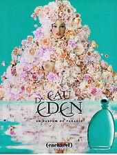 PUBLICITE ADVERTISING 025  1996  CACHAREL  parfum EAU D'EDEN