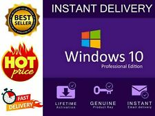 Microsoft Windows 10 Professional 32/64 bit Genuine License Key Instant delivery