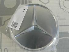 """Genuine Mercedes center hub cap alloy wheels """"silver"""" W126 W124 R129 W140 NOS!"""