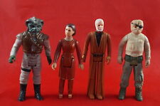 Vintage Star Wars Lot of 4 Action Figures Obi Wan Kenobi Klaatu Princess Leia