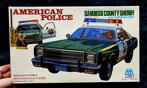 AMERICAN POLICE SANDIEGO COUNTY SHRIFF PLYMOUTH FURY 1/24 YODEL MODEL KIT