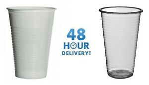 White or Clear Plastic 7oz Disposable Cups 180ml Vending Style Cups Party