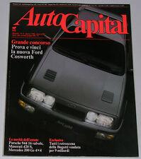 AUTOCAPITAL 8/1986 MASERATI 420 S – FERRARI 275 GTB – MERCEDES 200 GE - PORSCHE