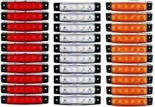 30 X SEGNALATORE LUCE INGOMBRO 6 LED SMD 24V 24VOLT 3 COLORI CAMION RIMORCHI NEW