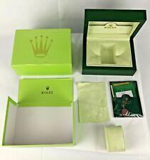 ROLEX WATCH BOX ROLEX SA GENEVE SUISSE 31.00.04 W/Sealed Paperwork & Box WOW