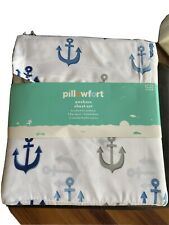 New Pillowfort Full Fitted Sheet Set From Target - Nautical / Anchors