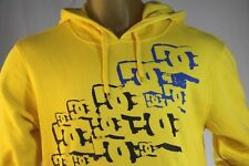 DC SHOES MEN'S YELLOW PULL-OVER HOODIE/SWEATSHIRT W/ LOGO size X-Large/XL