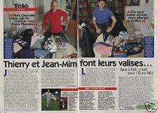 Coupure de presse Clipping 1996 Thierry Roland Jean Michel Larqué (2 pages)