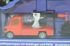 Siku No 2220 Breakdown Truck w/ Car and Trailer - Made In West Germany - Boxed