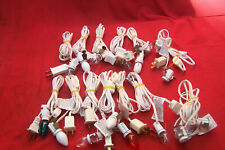 vintage candle light fitting with line switch & 110 volt mini bulb