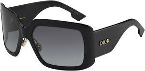 Dior Sunglasses DIORSOLIGHT2 807-9O 61mm Black / Dark Grey Gradient Lens