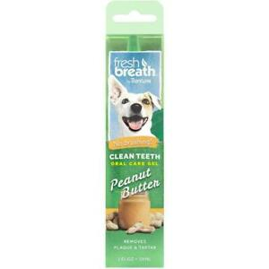 TropiClean Fresh Breath Oral Care Gel for Dogs with Peanut Butter Flavour, 59ml