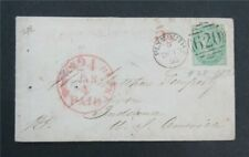 nystamps Great Britain Stamp Used Early Cover