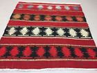 Traditional Turkish Kilim Rug shabby vintage wool country home Kelim 105x100cm