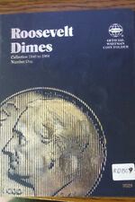 RDB09 COMPLETE SILVER ROOSEVELT DIME COLLECTION NEW FOLDER 50 COINS IN BOOK
