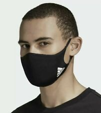 New listing 3 Pack Adidas Black Face Mask Cover 100% Authentic Adult Size Large-Med In Stock