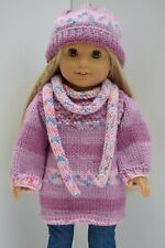OUR GENERATION AMERICAN GIRL JUMPER DRESS, SCRAF & HAT CLOTHES FOR 18INCH  DOLL