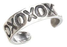 Hugs & Kisses Toe Ring Sterling Silver 925 Best Deal Plain Jewelry Usa Seller