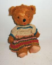 Alter Teddybär Glasaugen Teddy Vintage 26 cm Deko !