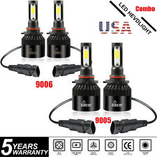 4x 9005 9006 LED Headlight Kit Combo Total 3000W 450000LM High Low Beam 6000K US