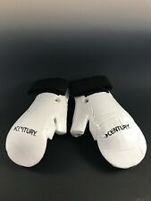 Century Martial Arts Sparring Gloves White Adult Small New Karate Tae Kwon Do