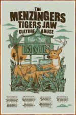 THE MENZINGERS |  TIGERS JAW Fall Tour 2019 Ltd Ed RARE Poster +FREE Punk Poster