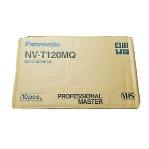Lot 10 Panasonic Professional Broadcast Quality Blank VHS Tapes NV-T120pq T120
